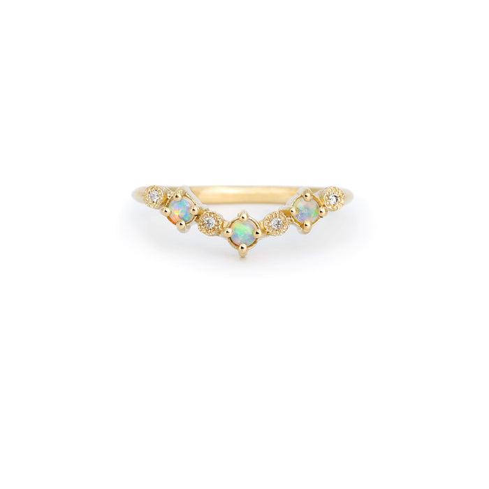 Harmony Opal Wavy Band Ring