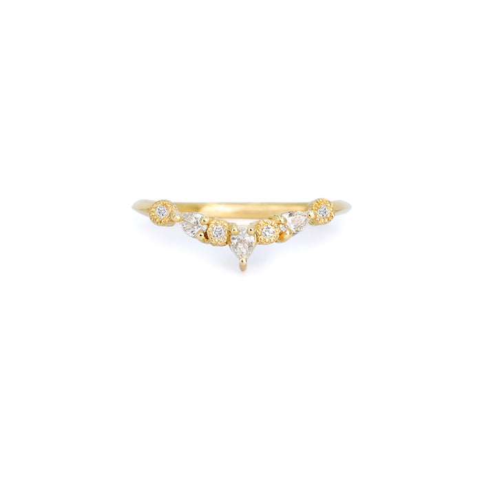Astra Diamonds Wavy Band Ring