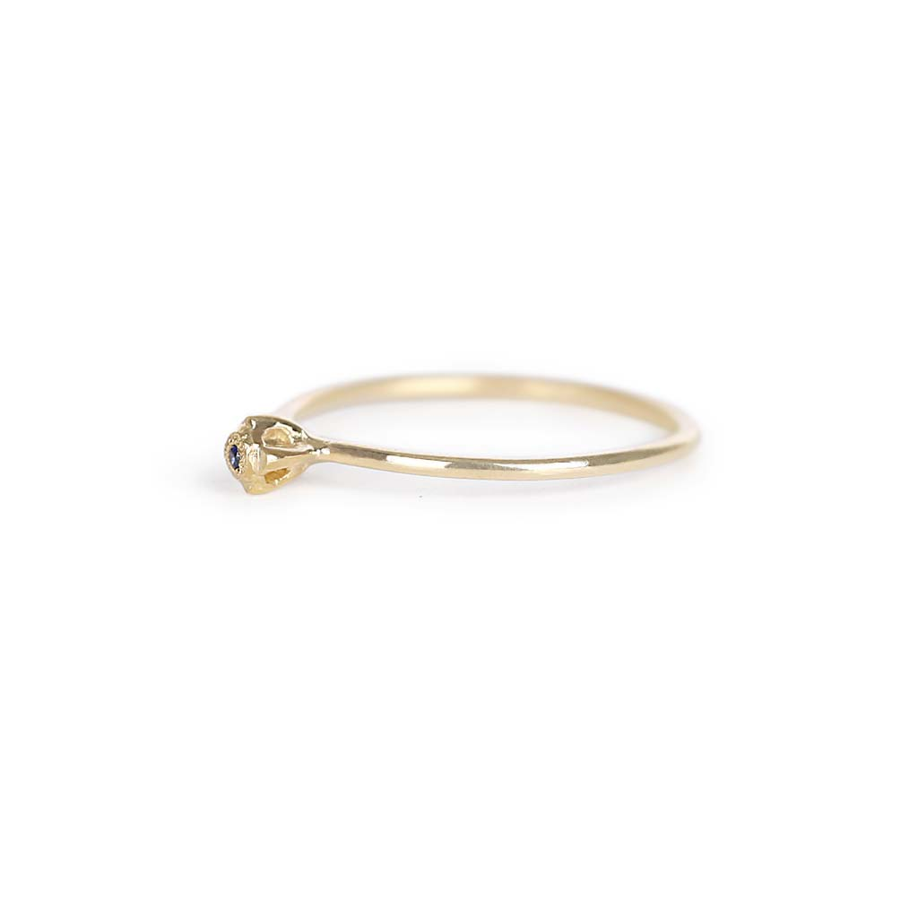 Floral Diamond Stacking Ring - James & Irisa Jewellery