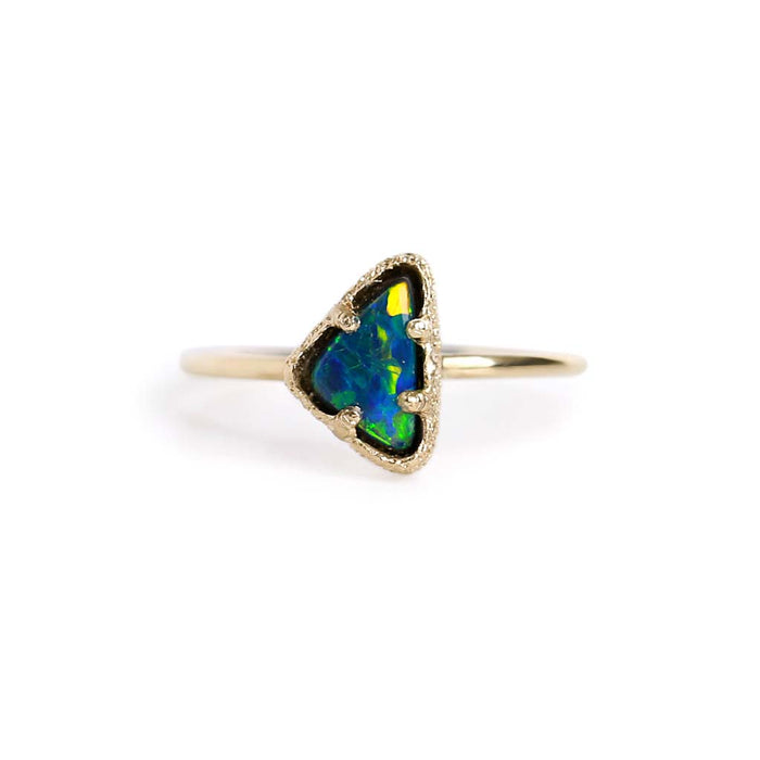 Opal Doublet Stacking Ring 10