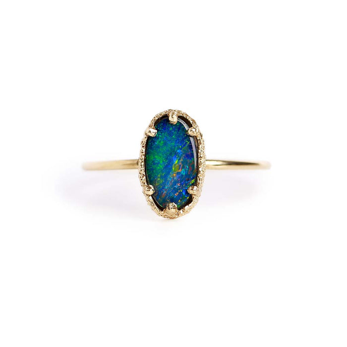 Opal Doublet Stacking Ring 9