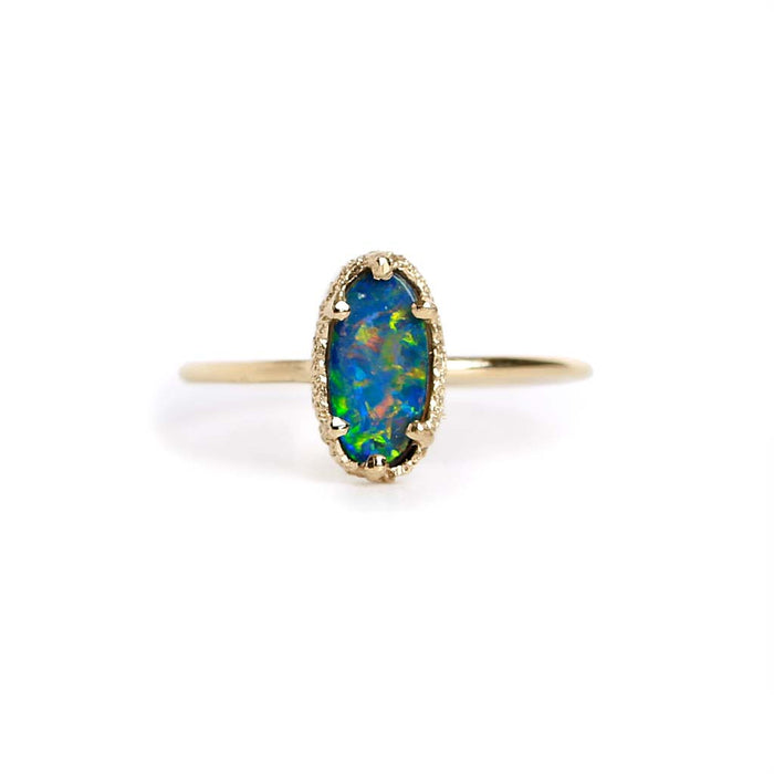Opal Doublet Stacking Ring 15