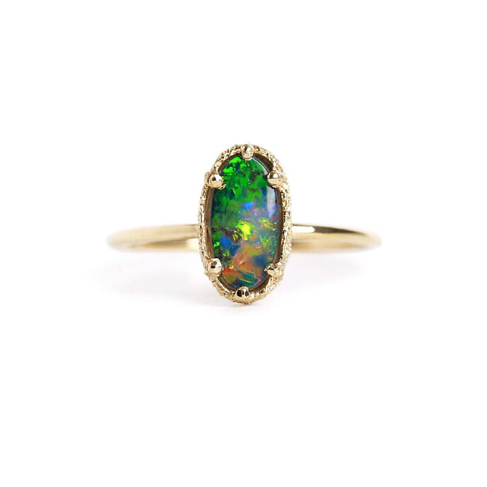 Opal Doublet Stacking Ring 17
