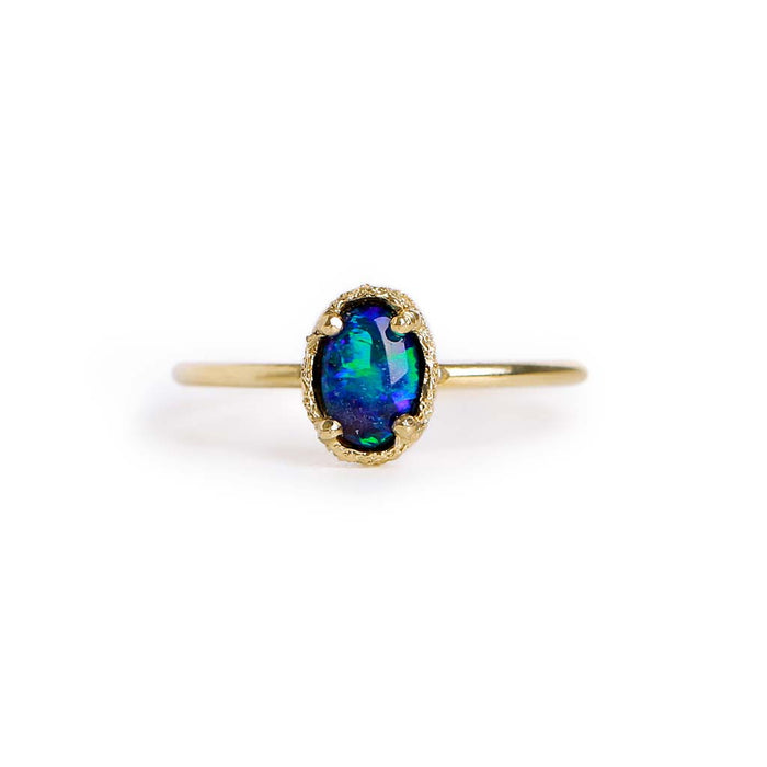 Opal Doublet Stacking Ring 8