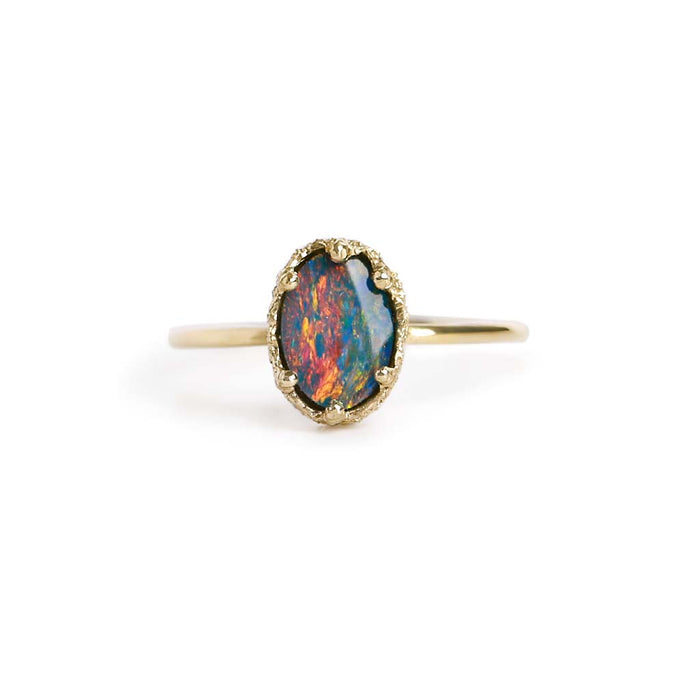 Opal Doublet Stacking Ring 12