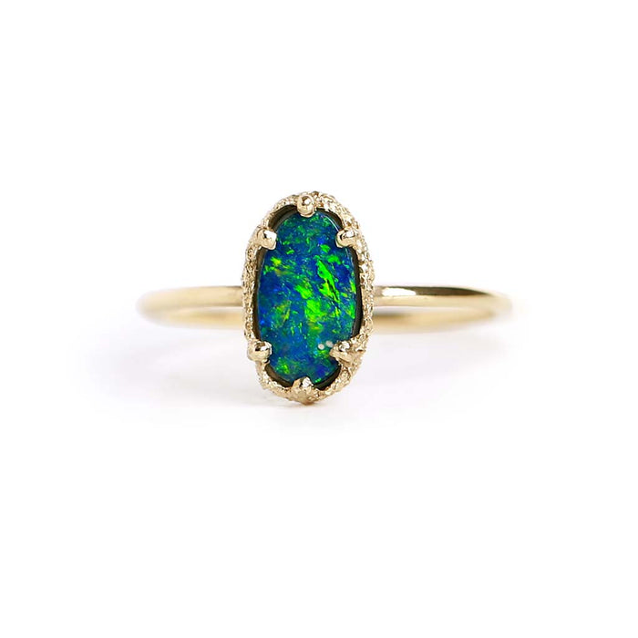 Opal Doublet Stacking Ring 13