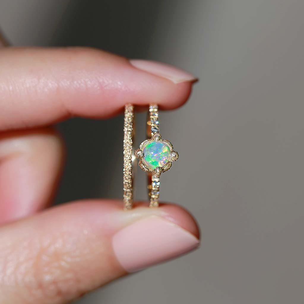 Elements Round Opal Ring