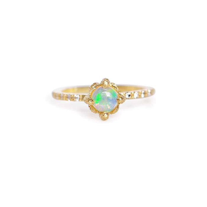 Elements Opal Solitaire Ring