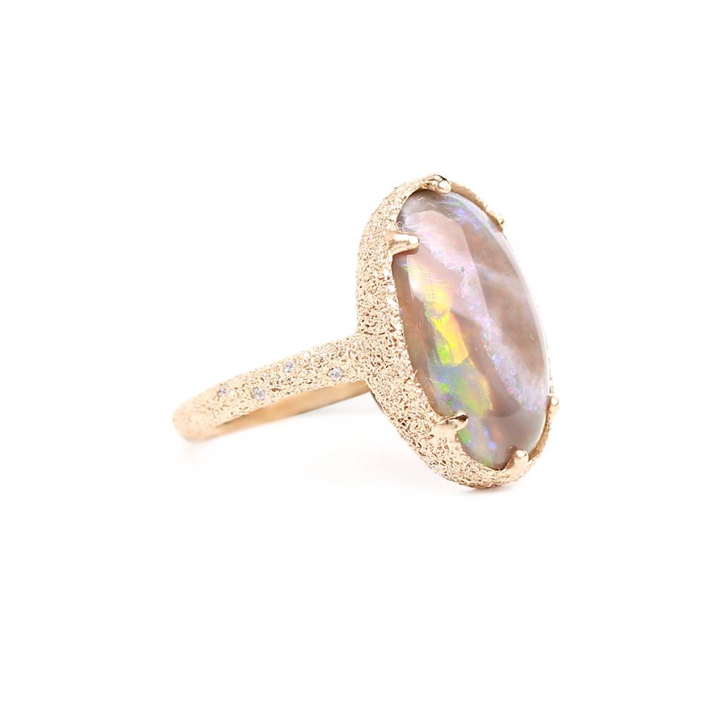 Galaxy Black Opal Ring 1