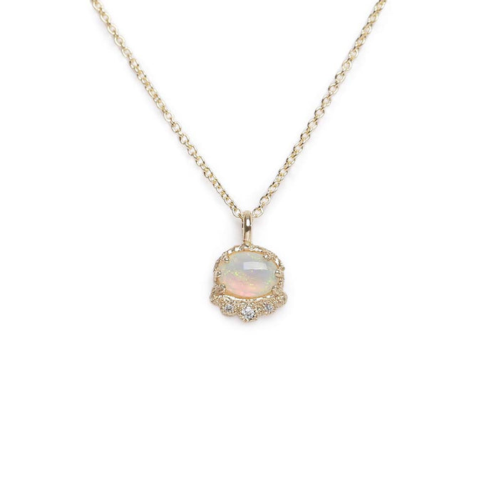 Tiara Opal Diamond Necklace (YG)
