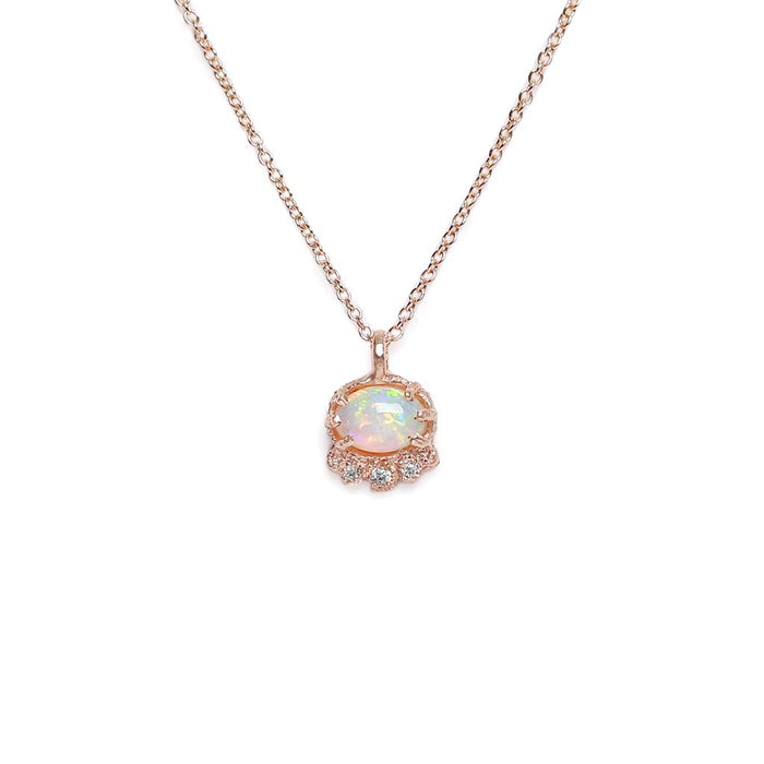 Tiara Opal Diamond Necklace (RG)