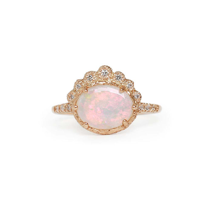 Tiara oval opal ring