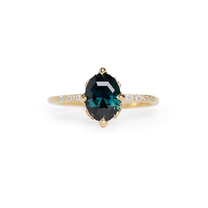 Elements oval parti sapphire ring