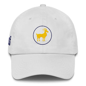 White GOAT Golf Hat