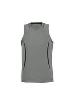 Load image into Gallery viewer, Ash/Black / S Mens Razor Singlet