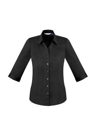 Black / 6 Ladies Monaco 3/4 Sleeve Shirt