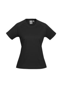 Black / 6 Ladies Sprint Tee