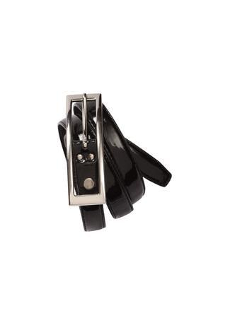 Black / 8 Ladies Semi-Patent Belt