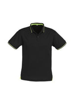 Load image into Gallery viewer, Black/Bright Green / S Mens Jet Polo