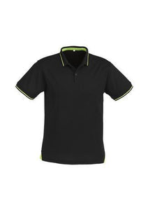 Black/Bright Green / S Mens Jet Polo
