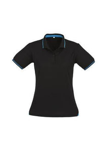 Black/Cyan / 8 Ladies Jet Polo