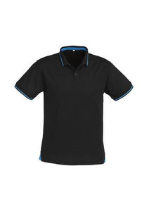 Black/Cyan / S Mens Jet Polo