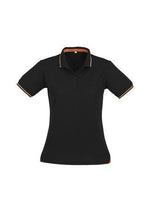 Load image into Gallery viewer, Black/Orange / 8 Ladies Jet Polo