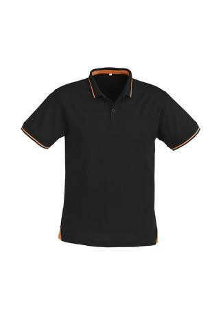 Black/Orange / S Mens Jet Polo