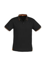 Load image into Gallery viewer, Black/Orange / S Mens Jet Polo