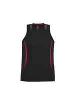 Load image into Gallery viewer, Black/Red / S Mens Razor Singlet