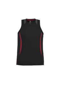 Black/Red / S Mens Razor Singlet