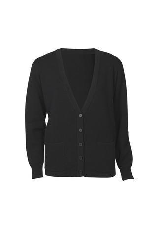 Black / S Ladies Woolmix Cardigan