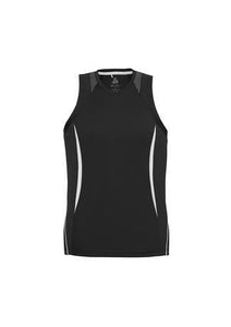 Black/White / S Mens Razor Singlet