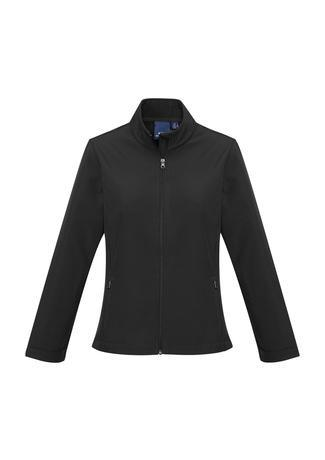 Black / XS Ladies Apex Lightweight Softshell Jacket