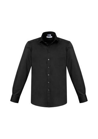Black / XS Mens Monaco Long Sleeve Shirt