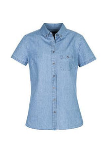 Blue / 6 Indie Ladies Short Sleeve Shirt