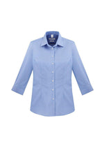 Load image into Gallery viewer, Blue / 6 Ladies Regent ¾/S Shirt