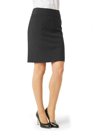 Charcoal / 6 Ladies Classic Knee Length Skirt