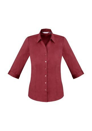 Cherry / 6 Ladies Monaco 3/4 Sleeve Shirt