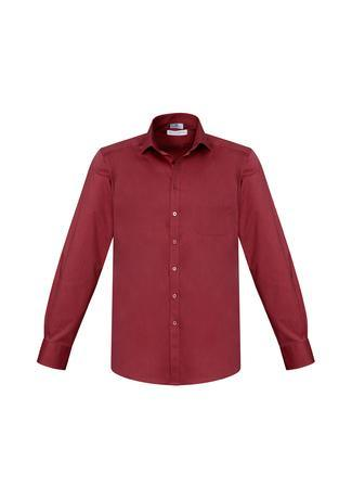 Cherry / XS Mens Monaco Long Sleeve Shirt
