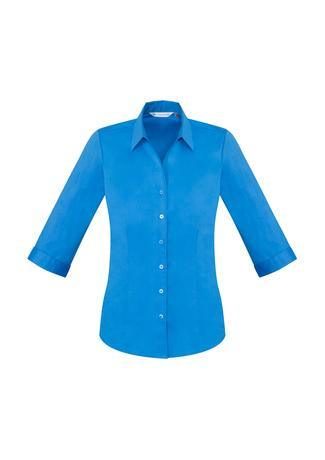 Cyan / 6 Ladies Monaco 3/4 Sleeve Shirt