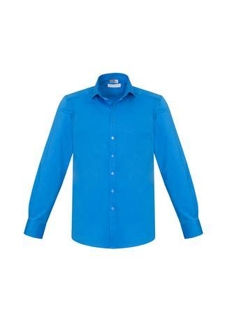 Cyan / XS Mens Monaco Long Sleeve Shirt