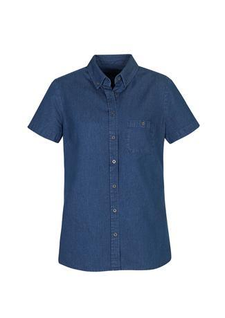 Dark Blue / 6 Indie Ladies Short Sleeve Shirt