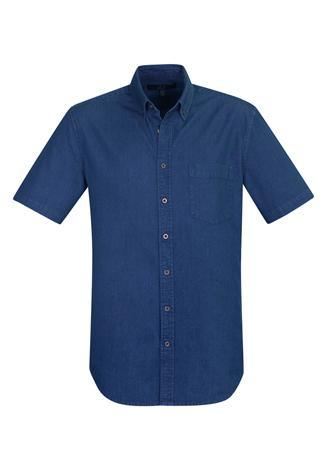 Dark Blue / XS Indie Mens Short Sleeve Shirt