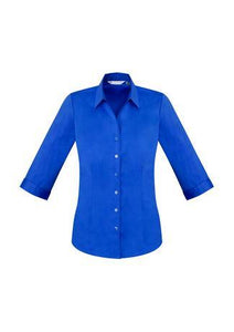Electric Blue / 6 Ladies Monaco 3/4 Sleeve Shirt