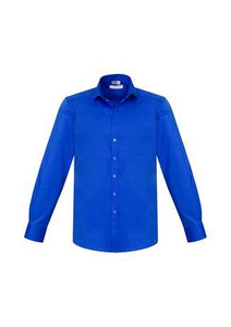 Electric Blue / XS Mens Monaco Long Sleeve Shirt