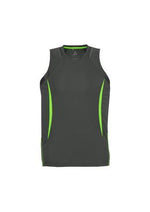 Load image into Gallery viewer, Grey/Fluoro Lime / S Mens Razor Singlet