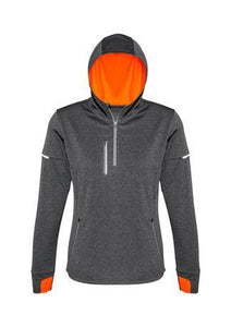 Grey/Fluoro Orange / XS Ladies Pace Hoodie