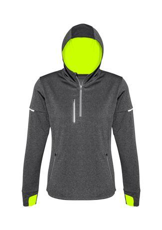 Grey/Fluoro Yellow / XS Ladies Pace Hoodie