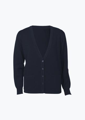 Navy / S Ladies Woolmix Cardigan